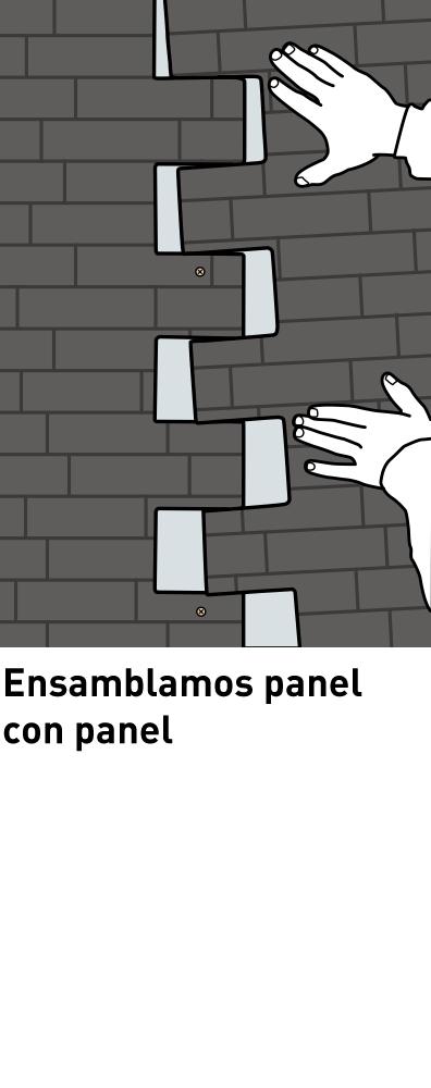 paso 111 Panel Piedra Montaje