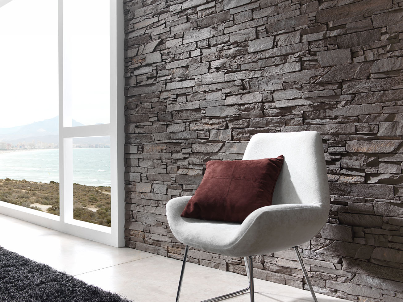 Papeles decorativos y decorative walls - Pared imitacion piedra ...