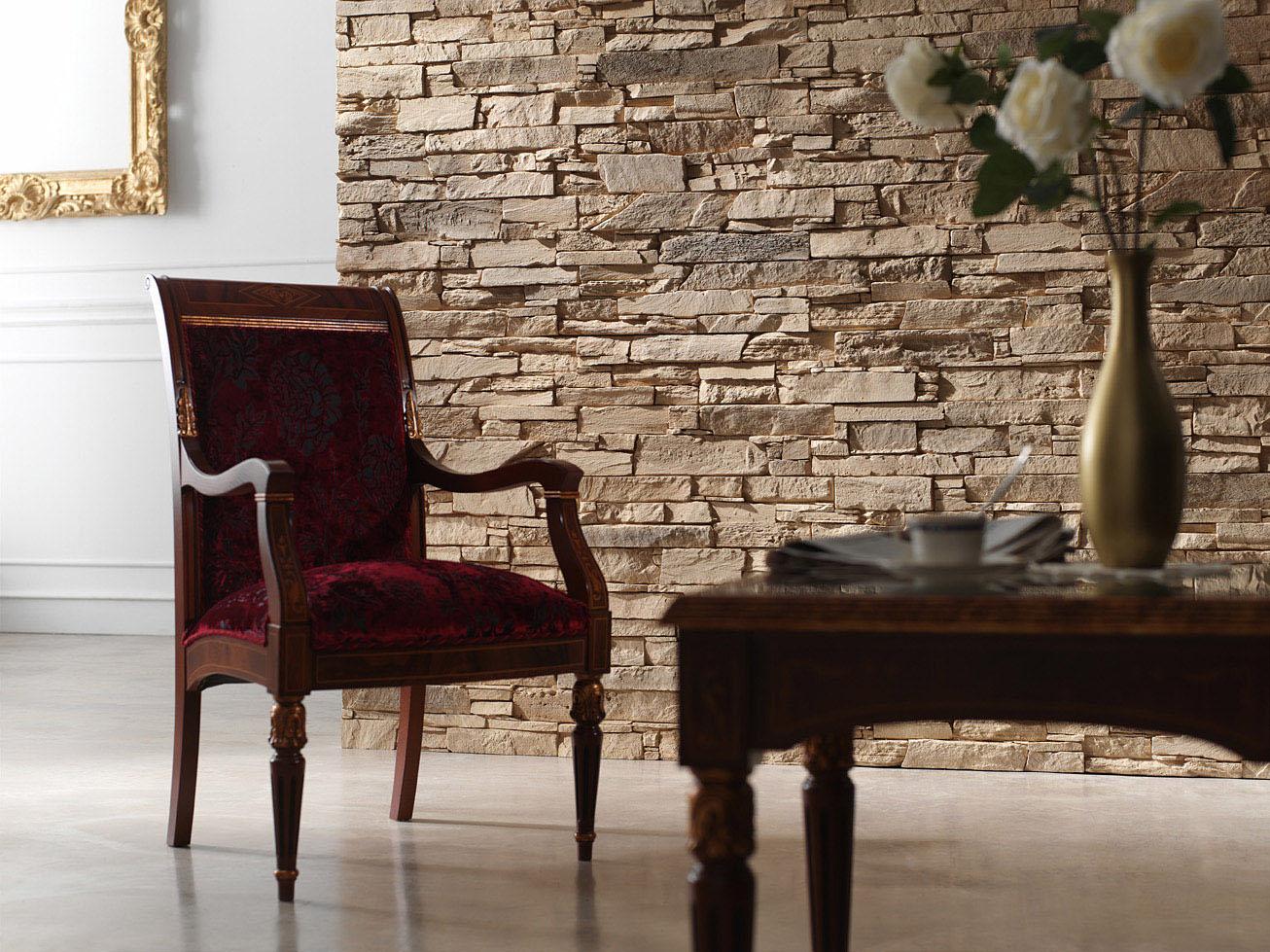 Papeles decorativos y decorative walls - Decoracion con piedras en interiores ...