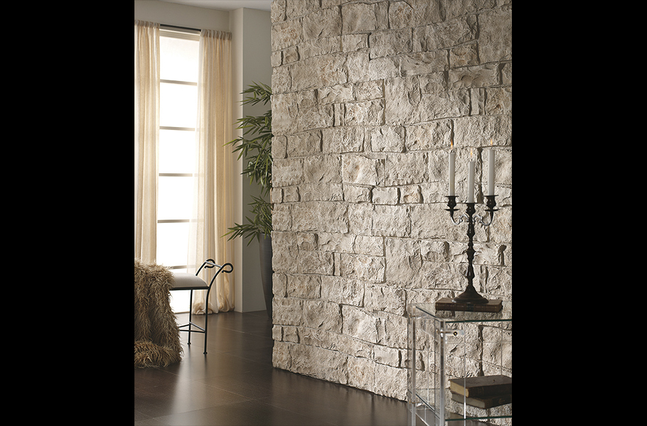 Liebana blanco arena 4444 panel piedra paneles de - Paneles aislantes decorativos ...
