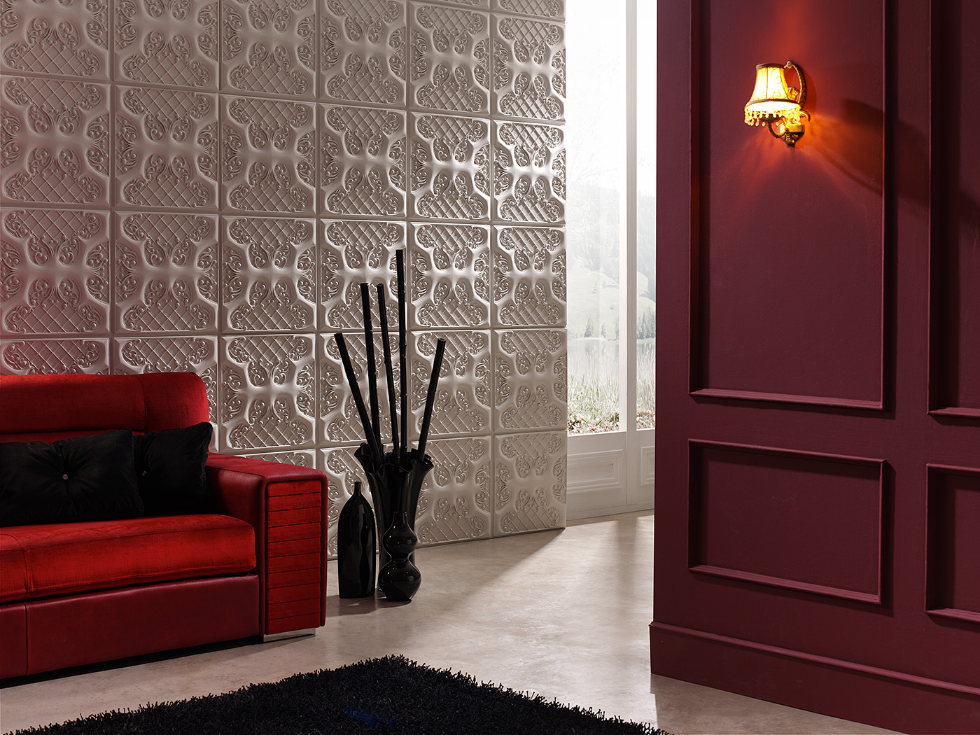 Panel piedra ashford paneles para paredes vintage for Paneles madera paredes interiores