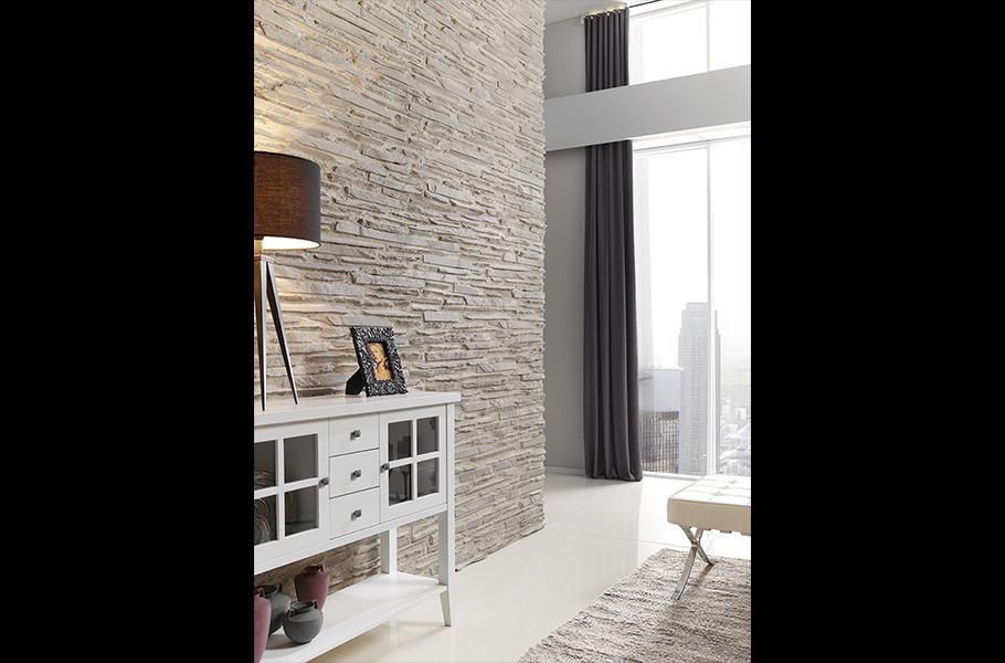 Panel piedra laja fina revestimiento para paredes - Pared interior de piedra ...