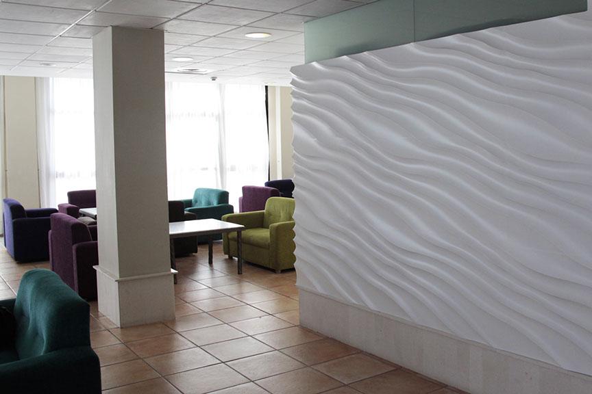 revestimientos de paredes con ondas revestimientos de paredes vanguardistas revestimientos de paredes de diseo paneles decorativos con ondas - Panel Decorativo Pared
