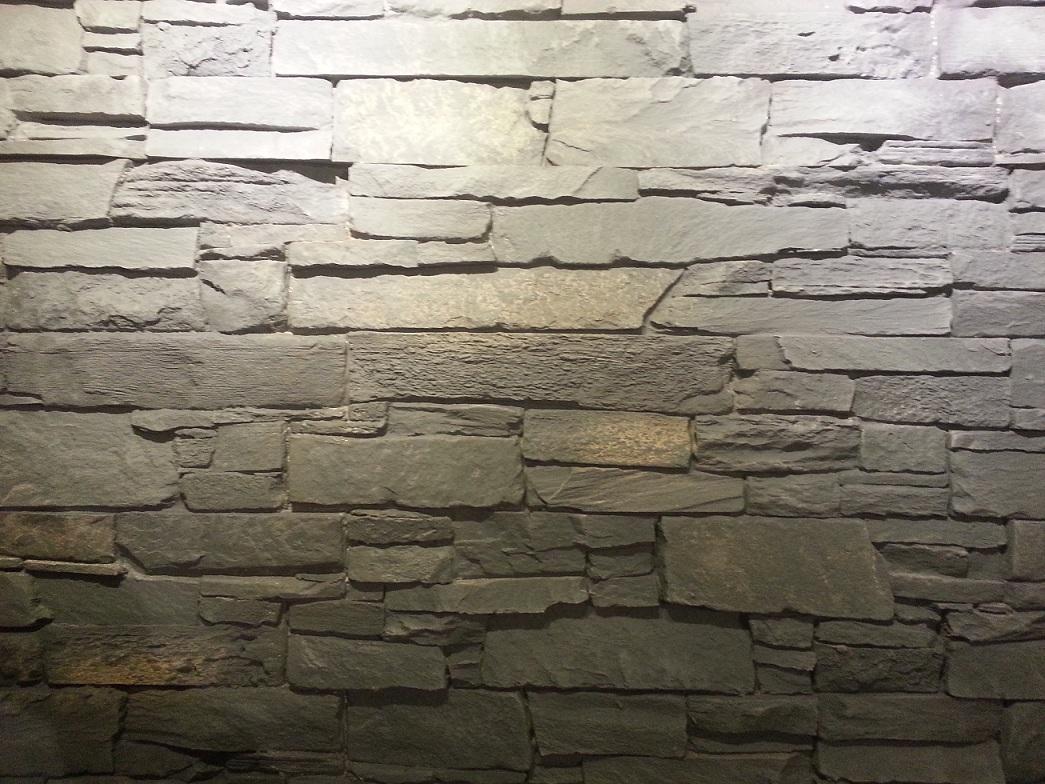 Panel piedra pizarra andes gris panel piedra paneles - Paneles de poliuretano imitacion piedra ...