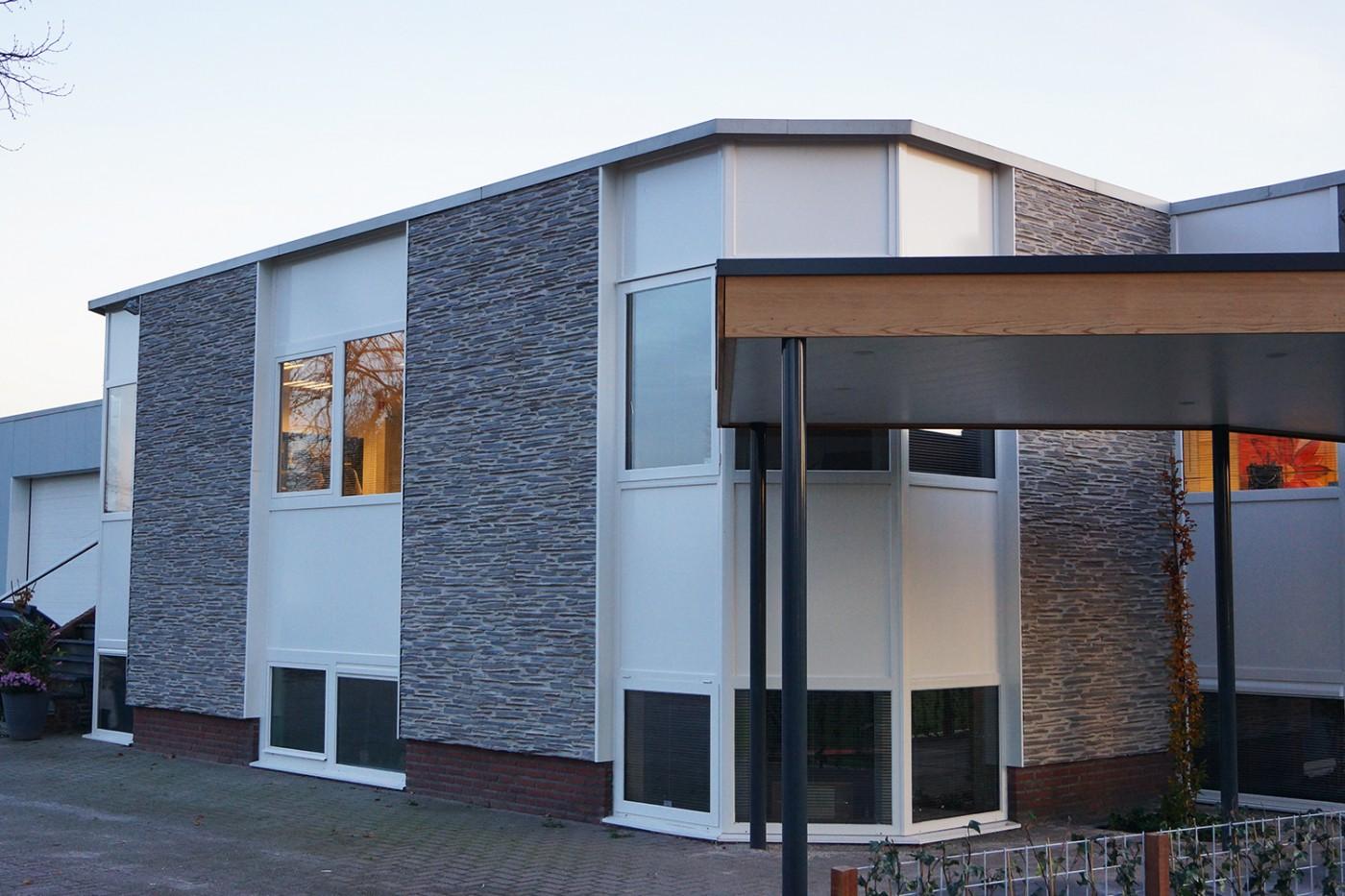 Panel piedra laja fina combinada for Imitacion piedra para fachadas