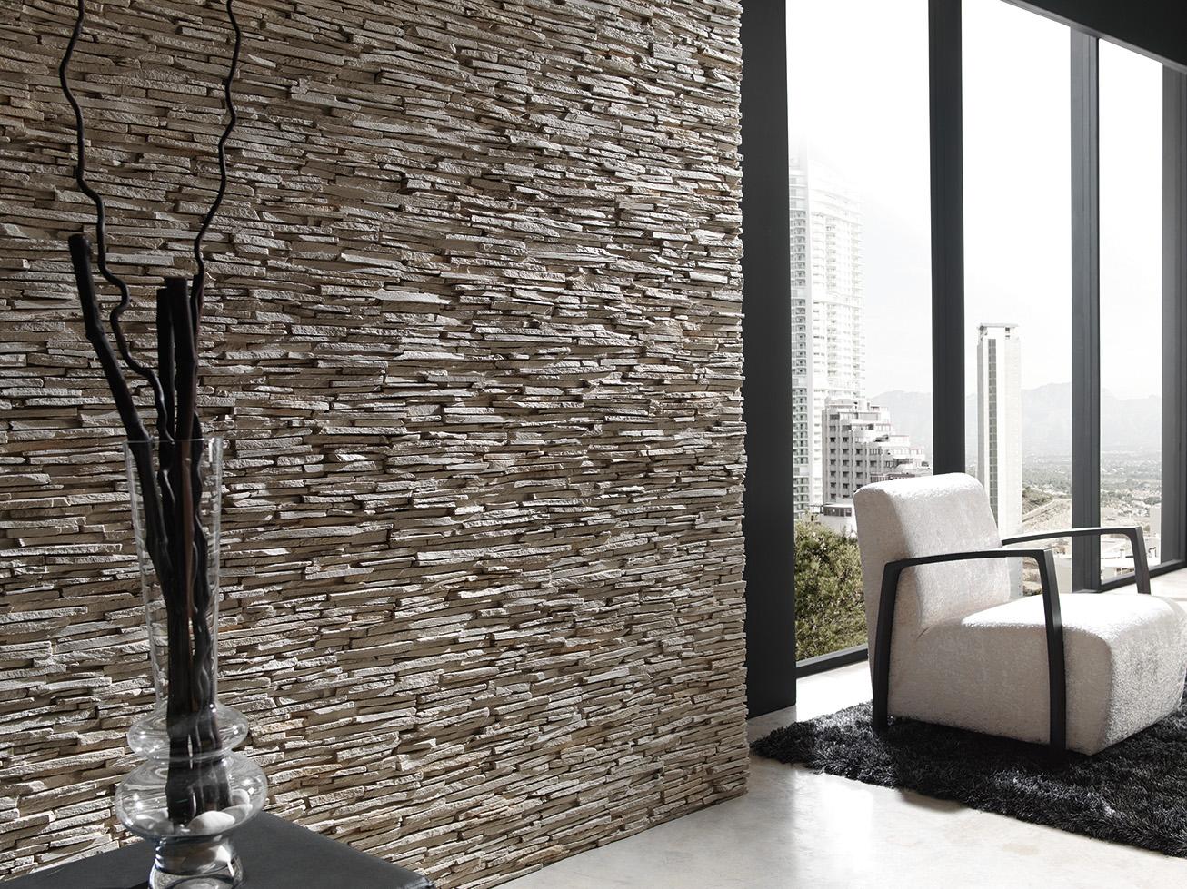Panel piedra pizarra alepes - Revestimientos interiores de paredes ...