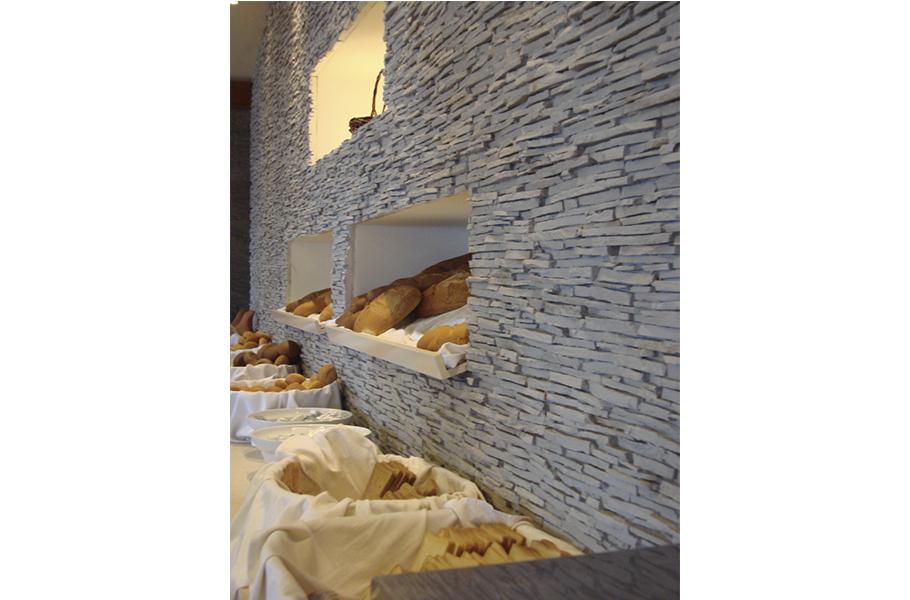 Panel piedra alpes blanco arena panel piedra paneles - Paneles de poliuretano imitacion piedra ...