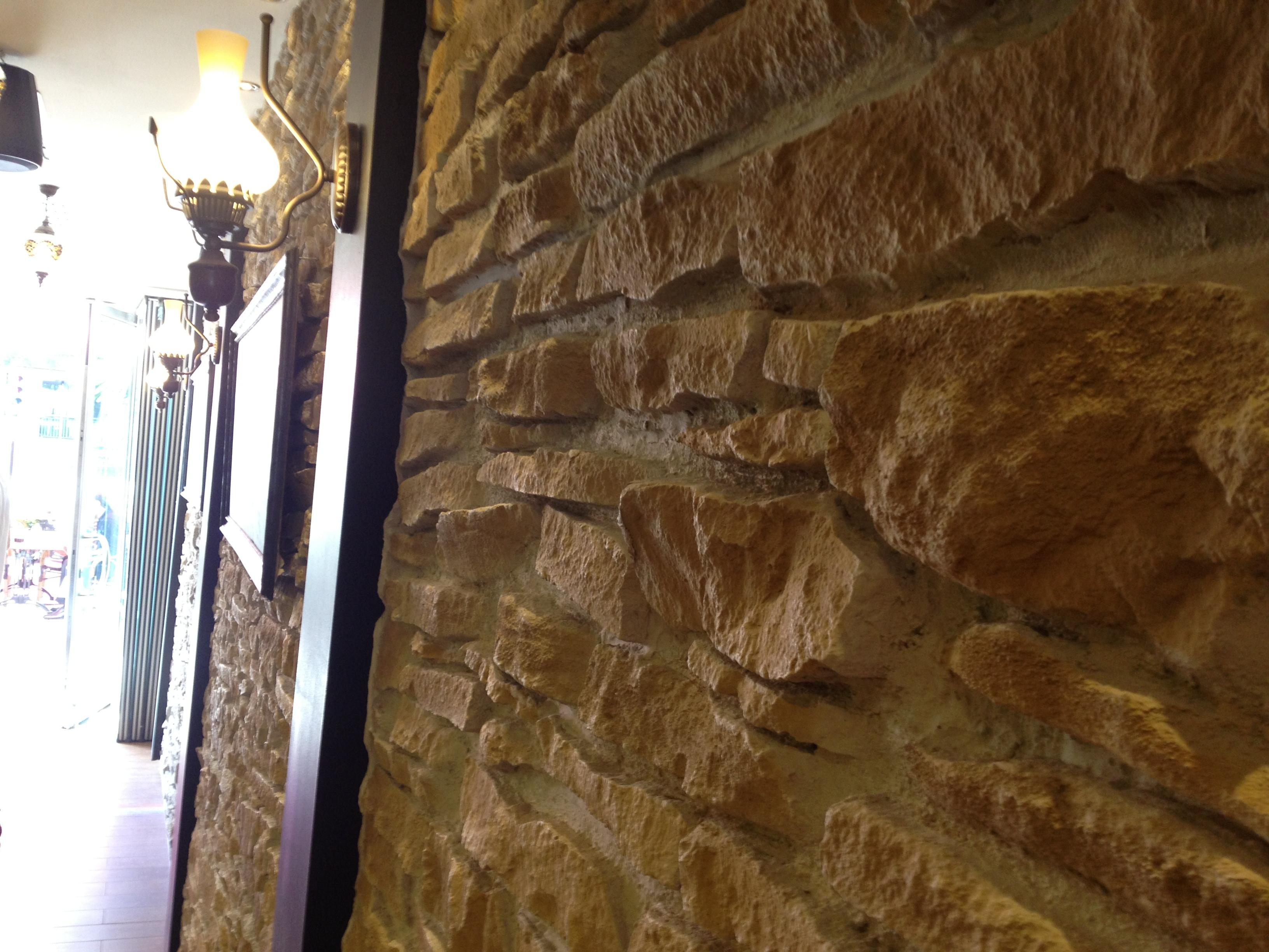 Panel piedra piedra arida ocre panel piedra paneles - Poliuretano imitacion piedra ...