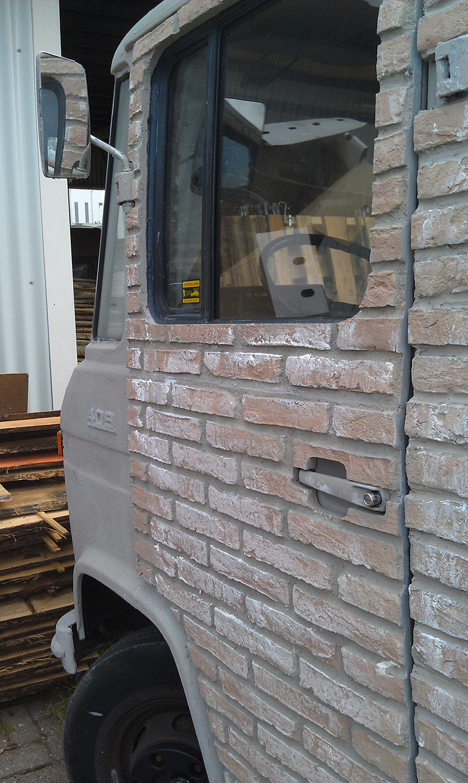 Panel piedra ladrillo rustico arcilloso caleado panel - Panel imitacion ladrillo ...